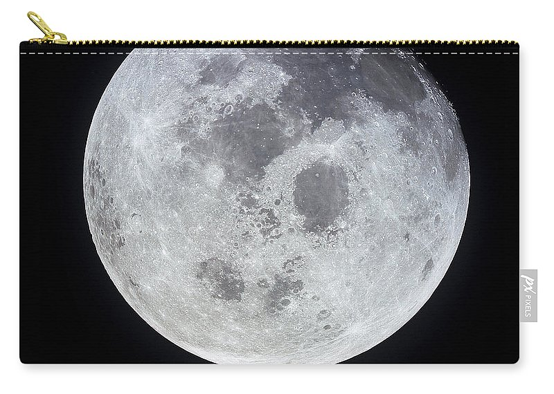 No People Carry-all Pouch featuring the photograph Full Moon by Stocktrek Images
