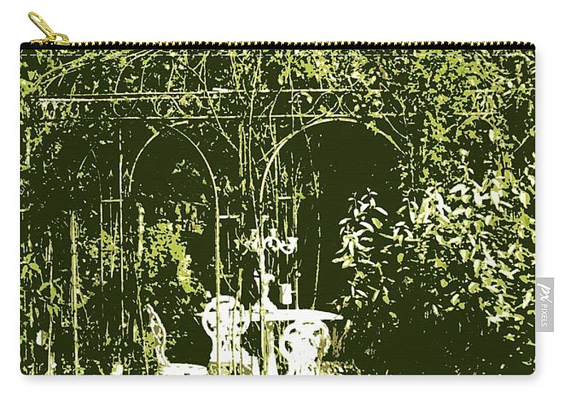 Gazebo Carry-all Pouch featuring the photograph Garden Gazebo by Carol Groenen