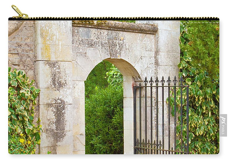 Access Carry-all Pouch featuring the photograph Gate by Tom Gowanlock