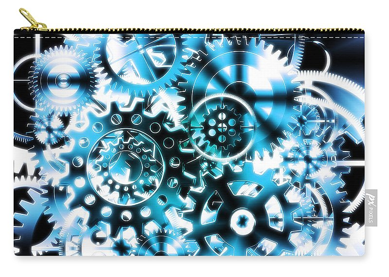 Art Carry-all Pouch featuring the photograph Gears Wheels Design by Setsiri Silapasuwanchai