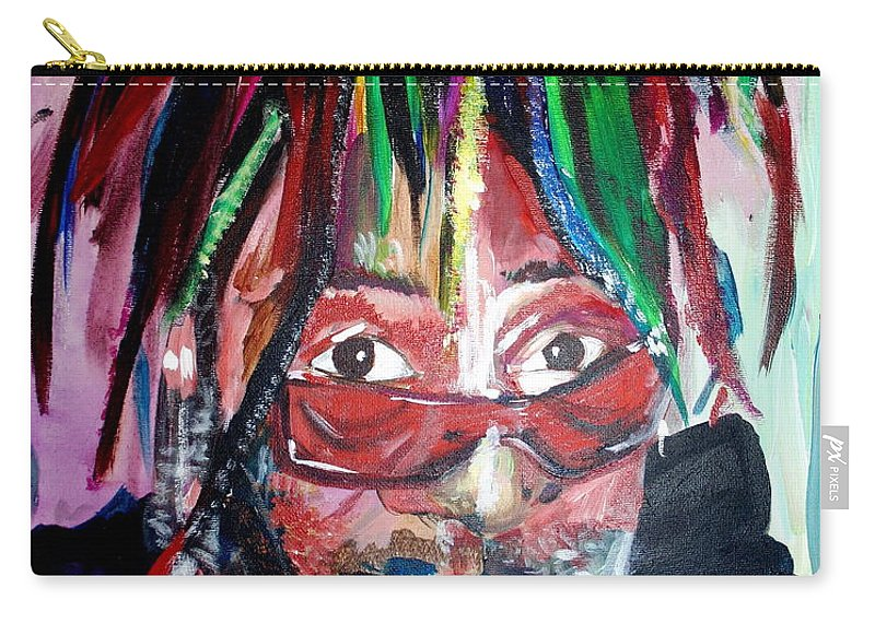Carry-all Pouch featuring the painting George Clinton by Kate Fortin