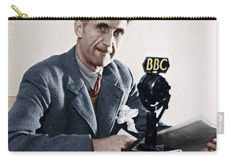 1943 Carry-all Pouch featuring the photograph George Orwell (1903-1950) by Granger