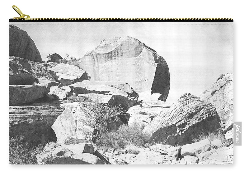 Pencil Carry-all Pouch featuring the photograph Giant Sandstone Boulders by Frank Wilson