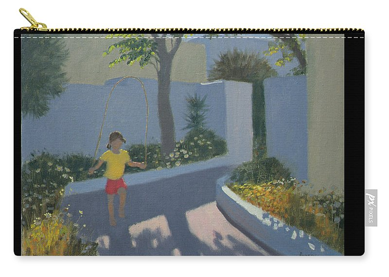 Holiday Carry-all Pouch featuring the painting Girl Skipping by Andrew Macara