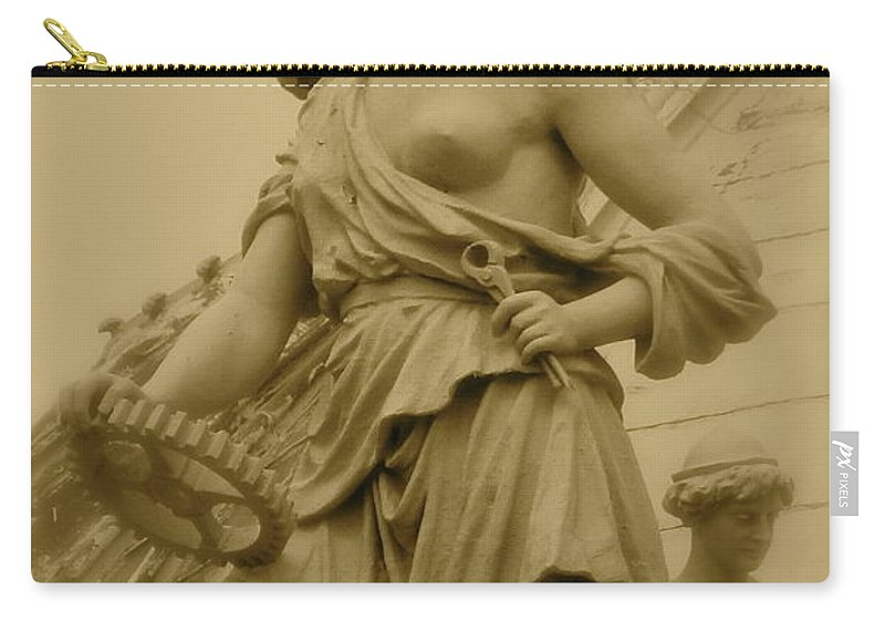 Statue Carry-all Pouch featuring the photograph Goddess by Rick Monyahan