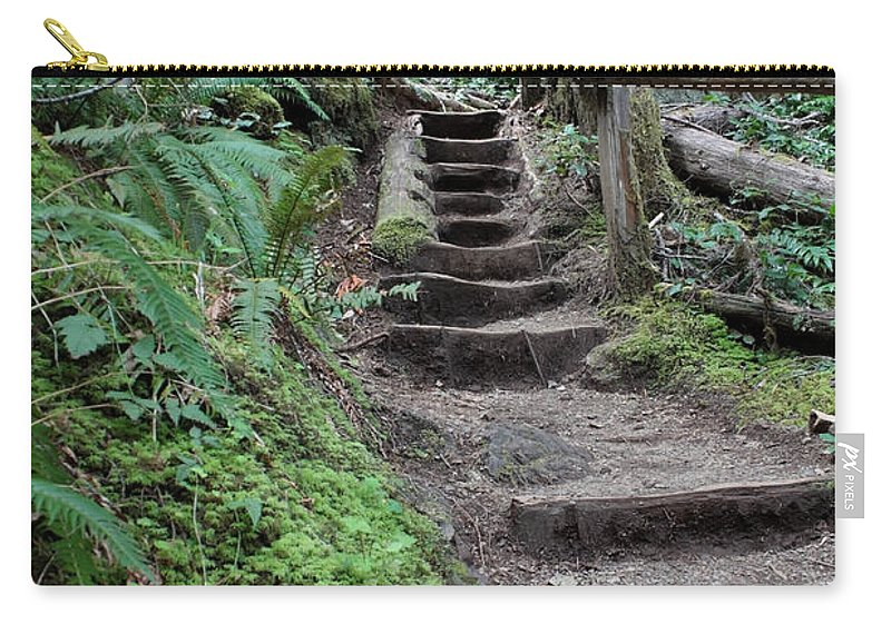 Forest Carry-all Pouch featuring the photograph Going Up by Carol Groenen
