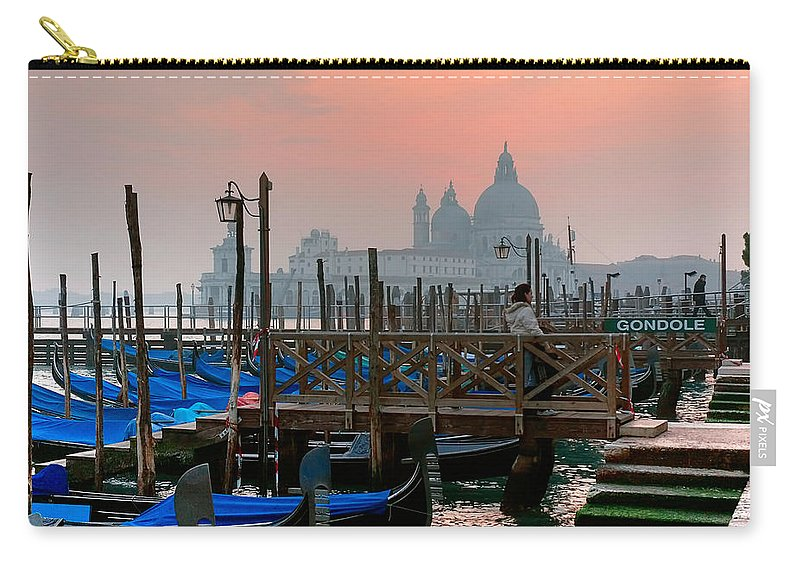 Venice Italy Carry-all Pouch featuring the photograph Gondole. Venezia. by Juan Carlos Ferro Duque