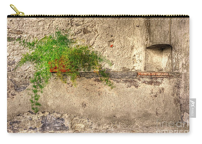 Green Carry-all Pouch featuring the photograph Green Plant by Mats Silvan