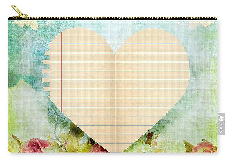 Antique Carry-all Pouch featuring the photograph greeting card Valentine day by Setsiri Silapasuwanchai