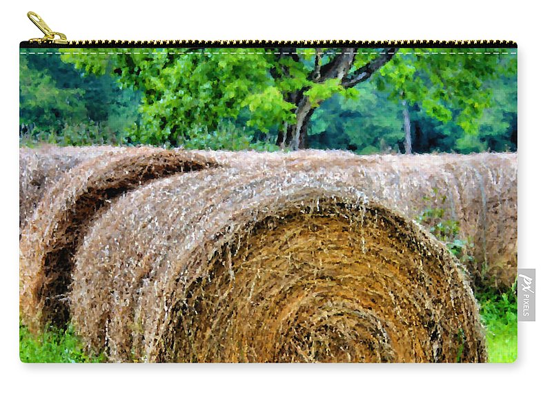 Hay Carry-all Pouch featuring the photograph Hay Rolls by Kristin Elmquist