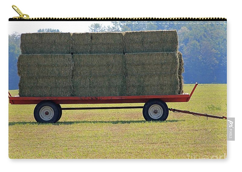 Farm Carry-all Pouch featuring the photograph Hay Wagon by J McCombie