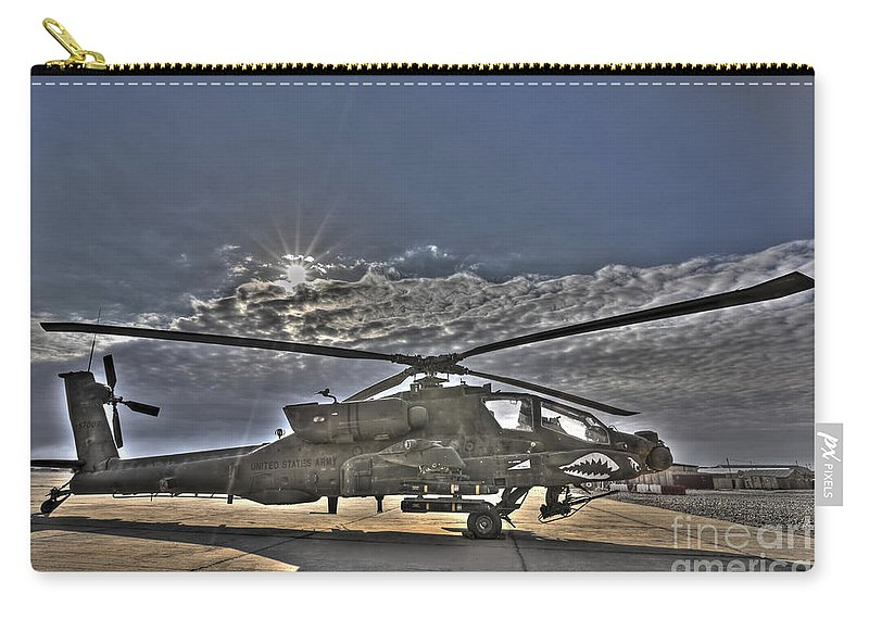Apache Carry-all Pouch featuring the photograph High Dynamic Range Photo Of An Ah-64d by Terry Moore