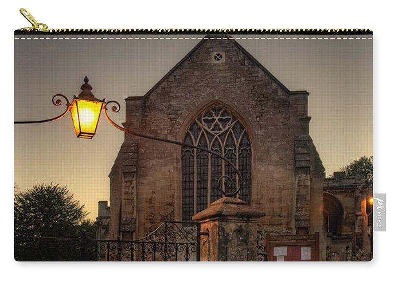 Bradford On Avon Carry-all Pouch featuring the photograph Holy Trinity Church Bradford On Avon England by Ann Garrett