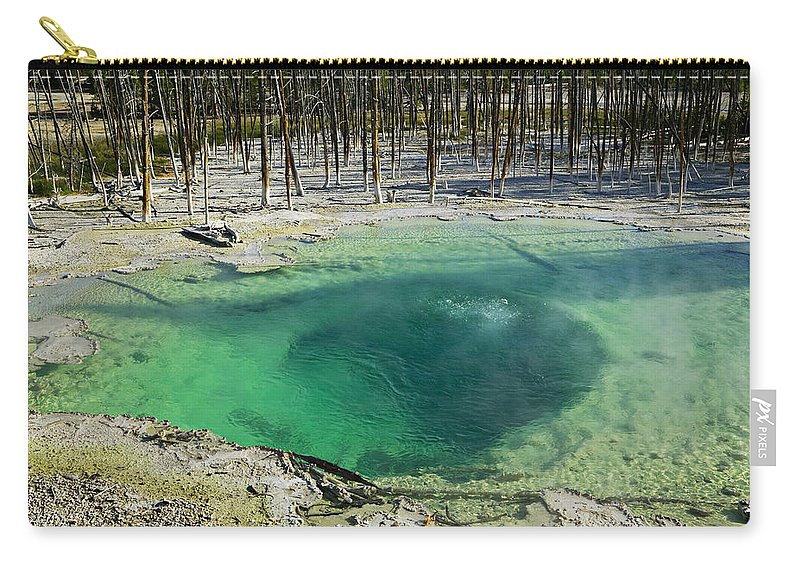 Hot Springs Yellowstone Midway Hot Springs Yellowstone Hot Carry-all Pouch featuring the photograph Hot Springs Yellowstone National Park by Garry Gay