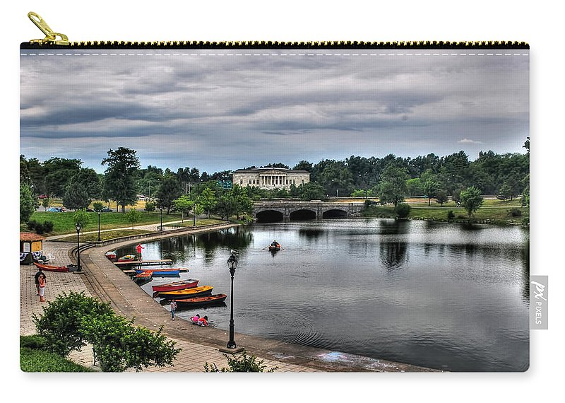 Carry-all Pouch featuring the photograph Hoyt Lake Delaware Park 0005 by Michael Frank Jr