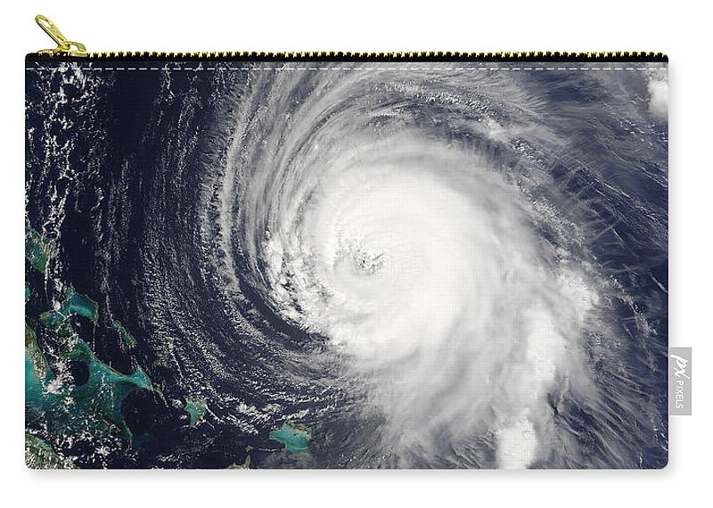 Color Image Carry-all Pouch featuring the photograph Hurricane Isabel by Stocktrek Images
