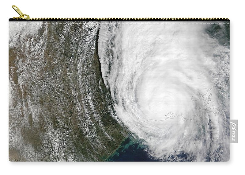 Cloud Carry-all Pouch featuring the photograph Hurricane Lili by Stocktrek Images