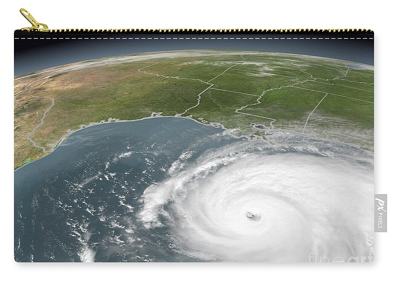Alabama Carry-all Pouch featuring the photograph Hurricane Rita by Stocktrek Images