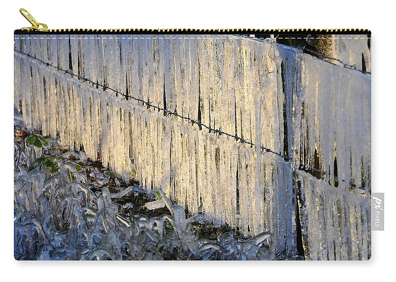 Fine Art Photography Carry-all Pouch featuring the photograph Ice Storm by David Lee Thompson