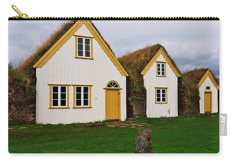 Iceland Carry-all Pouch featuring the photograph Icelandic Turf Houses by Ivan Slosar