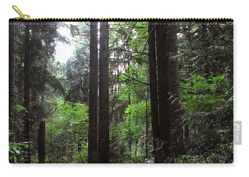 Landscape Carry-all Pouch featuring the photograph Into The Wood by Kathleen Grace