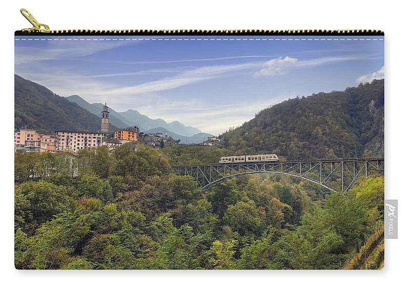 Intragna Carry-all Pouch featuring the photograph Intragna - Ticino by Joana Kruse