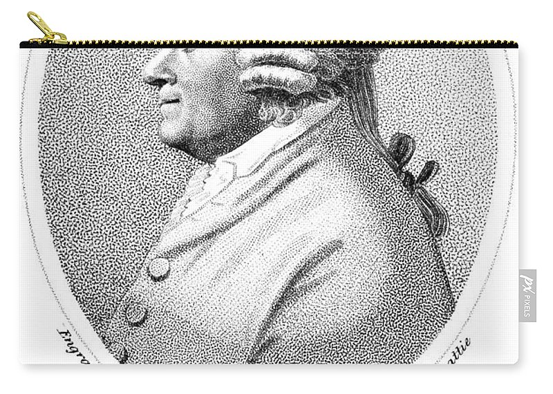 18th Century Carry-all Pouch featuring the photograph James Beattie (1735-1803) by Granger