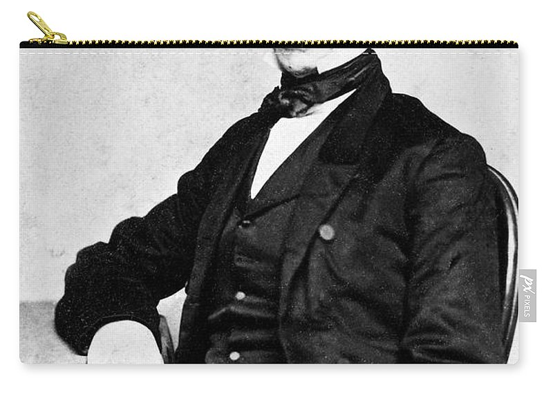 19th Century Carry-all Pouch featuring the photograph James Gordon Bennett, Sr by Granger