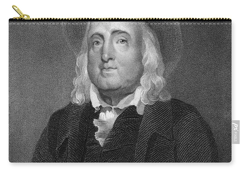 18th Century Carry-all Pouch featuring the photograph Jeremy Bentham (1748-1832) by Granger