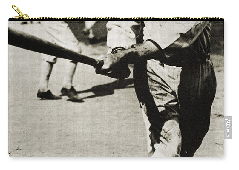 20th Century Carry-all Pouch featuring the photograph Joe Jackson (1889-1991) by Granger