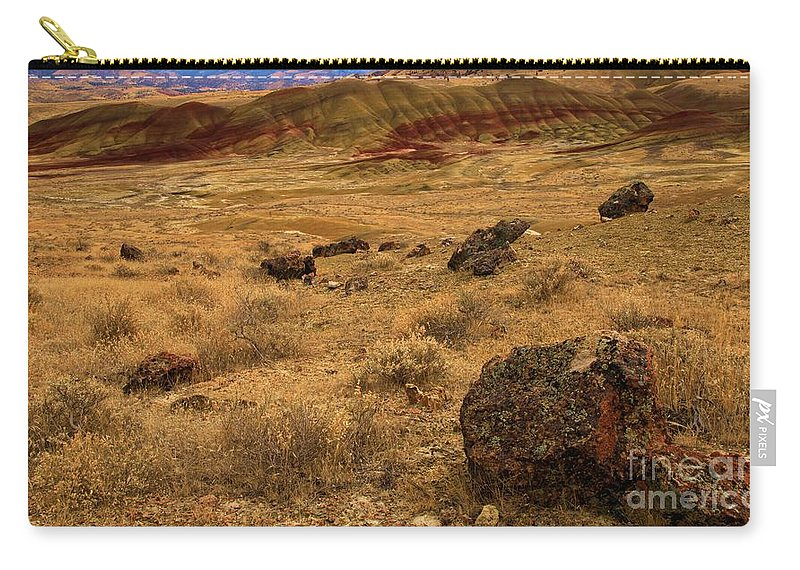 John Day Fossil Beds Carry-all Pouch featuring the photograph John Day Painted Hills by Adam Jewell