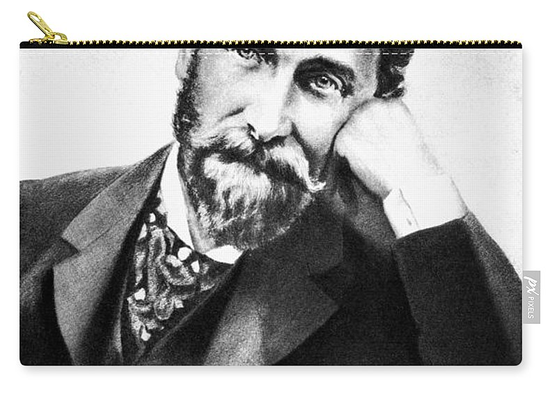 19th Century Carry-all Pouch featuring the photograph Joseph Pulitzer (1847-1911) by Granger
