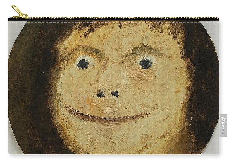 Girl Carry-all Pouch featuring the painting Smile by Oleg Konin
