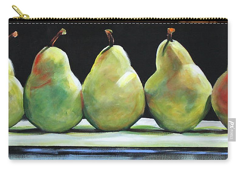 Pears Carry-all Pouch featuring the painting Kitchen Pears by Toni Grote