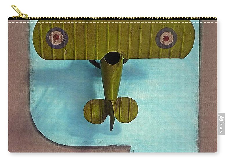 Kite Carry-all Pouch featuring the painting Kite by Charles Stuart