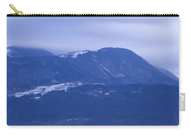 Krvavec Carry-all Pouch featuring the photograph Krvavec And The Kamnik Alps At Dawn by Ian Middleton