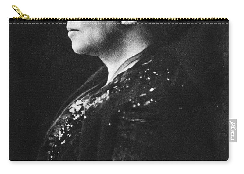 19th Century Carry-all Pouch featuring the photograph Lady Augusta Gregory by Granger