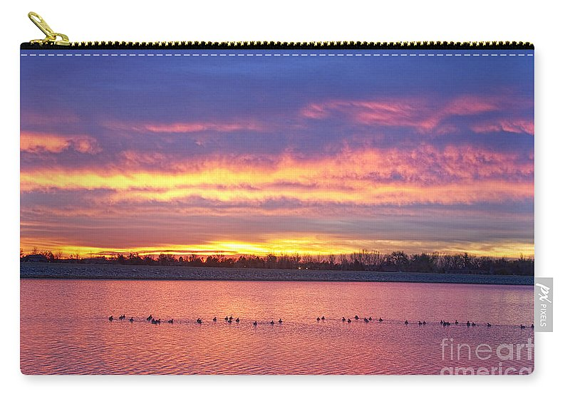 Sunrise Carry-all Pouch featuring the photograph Lagerman Reservoir Sunrise by James BO Insogna