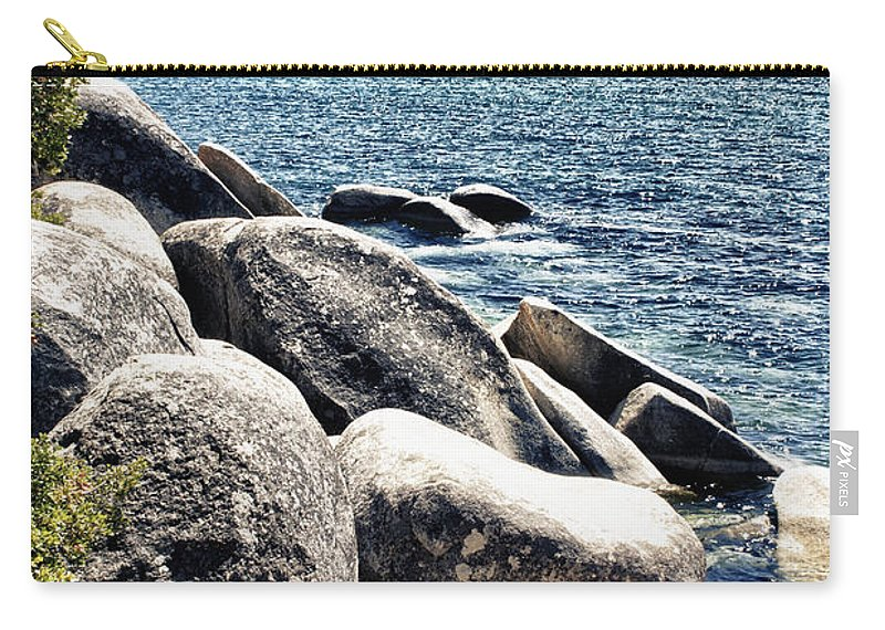 Lake Tahoe Carry-all Pouch featuring the photograph Lake Tahoe Vista by Linda Dunn