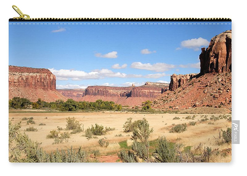 Fine Art Photography Carry-all Pouch featuring the photograph Land Of Many Canyons by David Lee Thompson