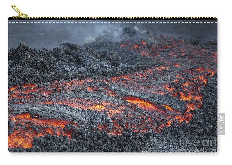 Ominous Carry-all Pouch featuring the photograph Lava Flow On The Flank Of Pacaya by Richard Roscoe