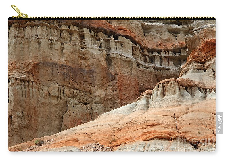 Layers Of Time Carry-all Pouch featuring the photograph Layers Of Time by Bob Christopher