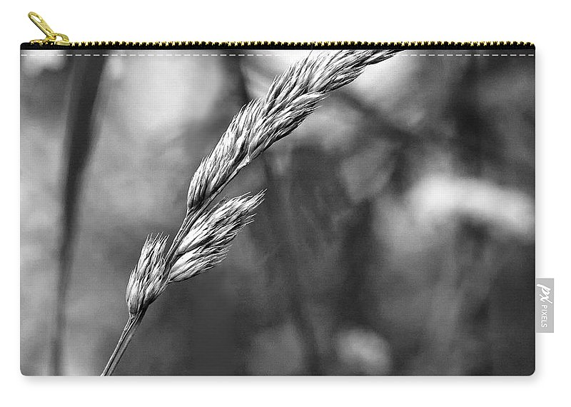 Grass Carry-all Pouch featuring the photograph Lazy Afternoon Monochrome by Steve Harrington