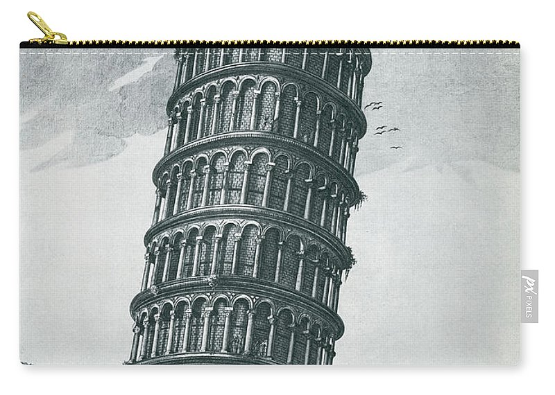 Architecture Carry-all Pouch featuring the photograph Leaning Tower Of Pisa by Science Source
