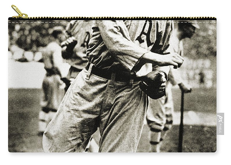 1910s Carry-all Pouch featuring the photograph Leslie Bush (1892-1974) by Granger