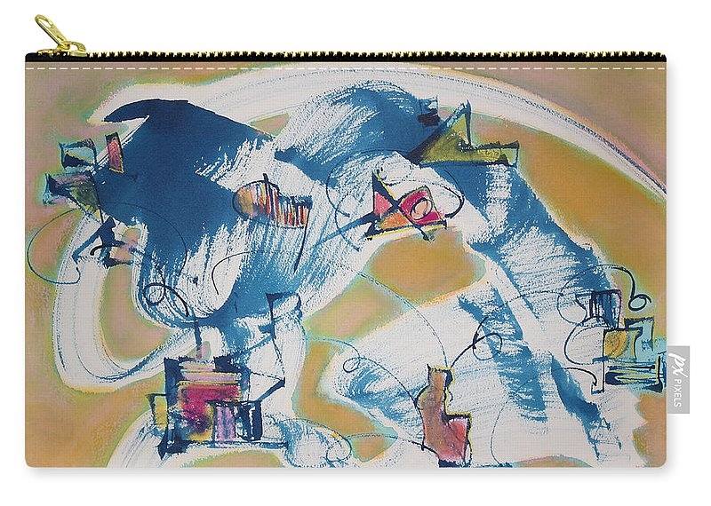 Abstract Painting Carry-all Pouch featuring the painting Letting Go by Asha Carolyn Young