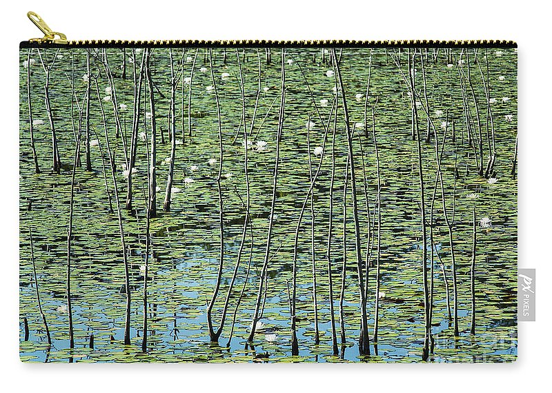 Brendan T. Byrne State Forest Carry-all Pouch featuring the photograph Lilly Pond by John Greim