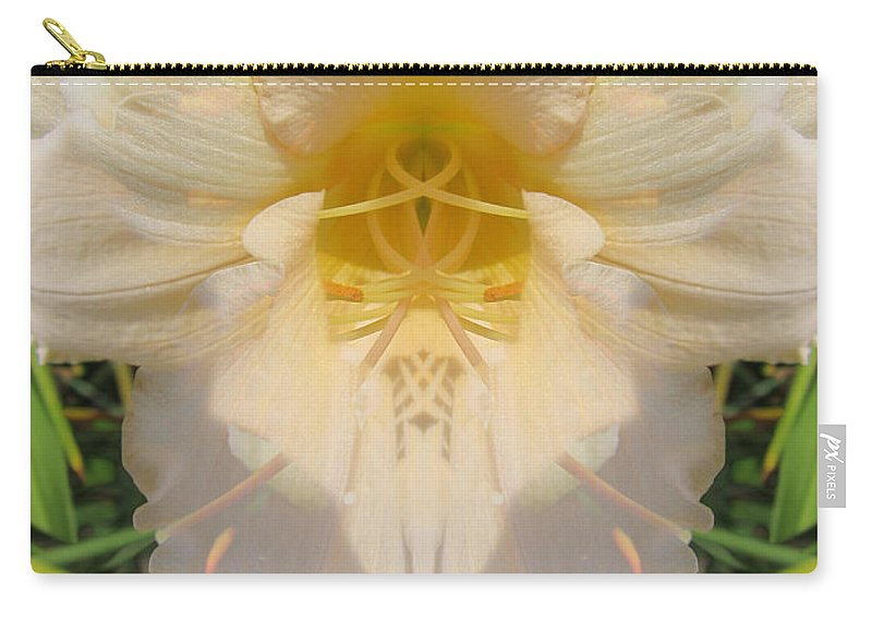 Color Blend Carry-all Pouch featuring the digital art Lily Fantasy by Michele Caporaso