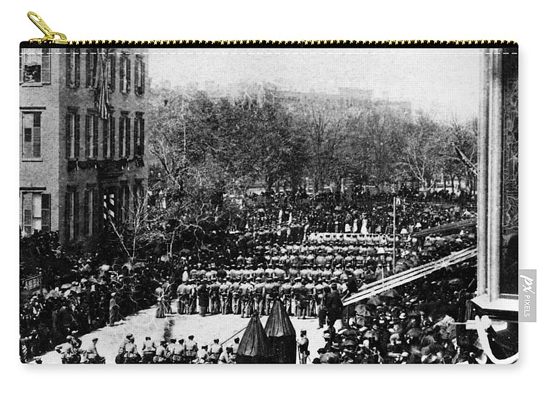 History Carry-all Pouch featuring the photograph Lincolns Funeral Procession, 1865 by Photo Researchers