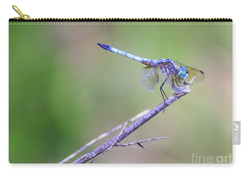 Dragonfly Carry-all Pouch featuring the photograph Living On The Edge by Carol Groenen